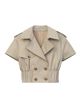 Cropped Trench Shirt