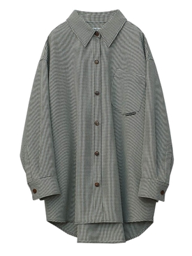 HOUNDSTOOTH OVERSIZED SHIRT JACKET
