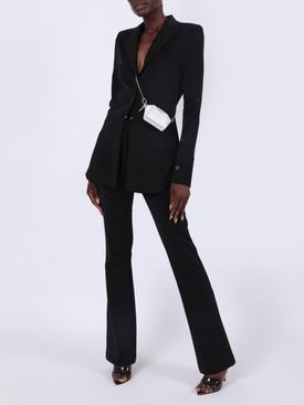Black flared trouser