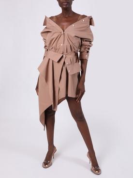 SAFARI ASYMMETRIC DECONSTRUCTED SHIRT DRESS