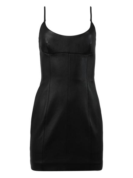 Alexander Wang Leathers Black Cami Dress