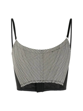 Black and white corset cropped top