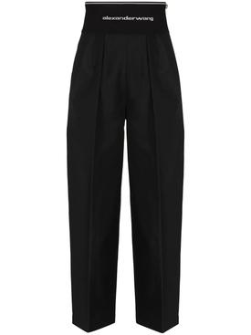 High-waisted Carrot Pant BLACK