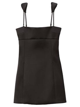 satin sport dress with charms black