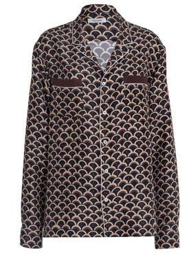 Valentino - Silk Scale Print Shirt - Men