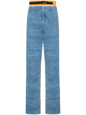 Contrast waistband jeans