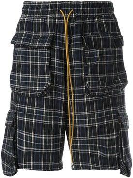Rhude - Plaid Cargo Shorts - Men