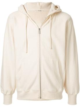 Cream zipped hoodie