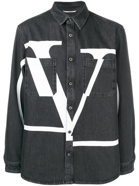 Logo Denim shirt BLACK
