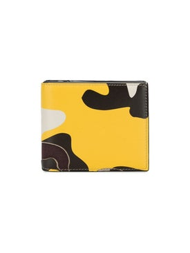 Valentino - Yellow Camouflage Leather Wallet - Men