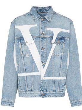 Valentino - Light Blue Logo Denim Jacket - Men