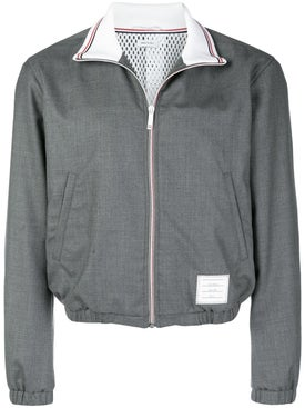 Thom Browne - Wool Funnel Neck Track Jacket - Men