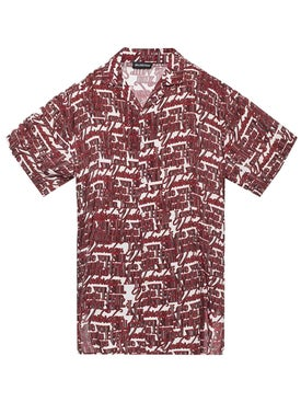 "Balenciaga - ""i Will Always Love You"" Printed Shirt Dark Red - Men"