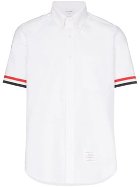 Thom Browne - Grosgrain Cuff Short Sleeve Shirt - Men