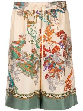 Gucci - Warrior Printed Silk Shorts - Men