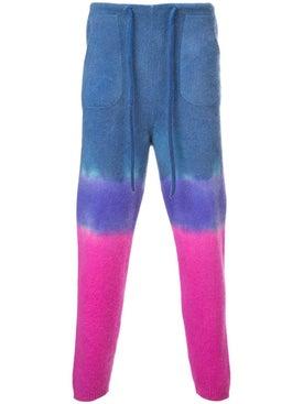 The Elder Statesman - Knitted Tie-dye Track Trousers - Men