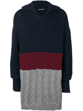 Mixed wool and cotton sweater