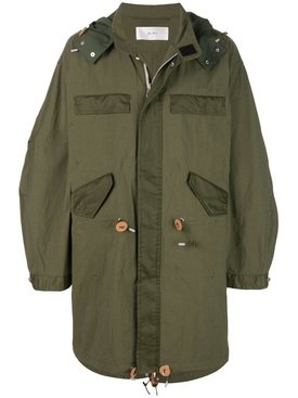 washed nylon Parka