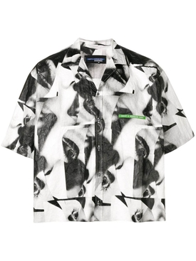 Mert & Marcus 1994 x Dsquared2 Abstract boxy shirt