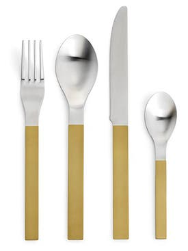 Valerie Objects - 16 Piece Brass Cutlery Set Gold - Home