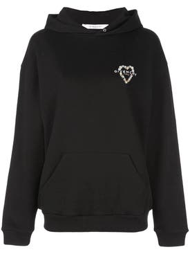 Givenchy - Heart Embroidered Hoodie - Women