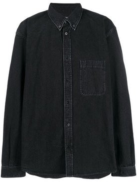 Balenciaga - Back Logo Print Denim Shirt - Overshirts