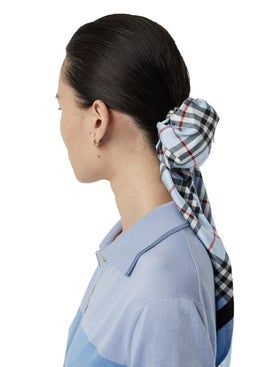 Burberry - Vintage Check Print Silk Hair Scarf - Women