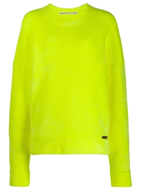 ribbed round neck sweater YELLOW