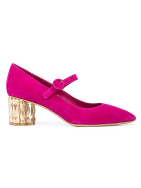 Salvatore Ferragamo - Pink Mary Jane Pumps - Women