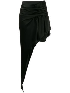 asymmetric floor-length skirt