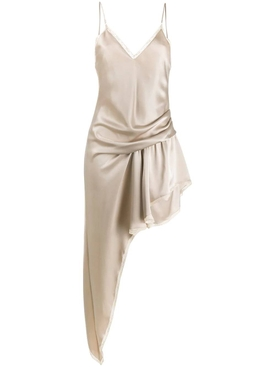 Asymmetric Cami slip dress CHAMPAGNE