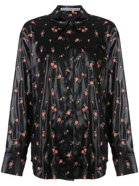 Alexanderwang - Black Floral Long Sleeve Shirt - Women