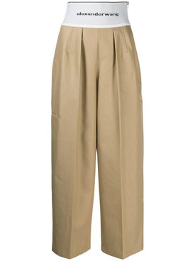 Alexanderwang - High-waisted Logo Trousers - Women