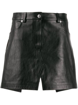Alexanderwang - Leather Apron Mini Skirt - Mini