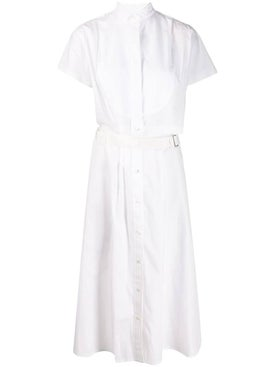 Sacai - White Cutaway Shirt Dress - Women