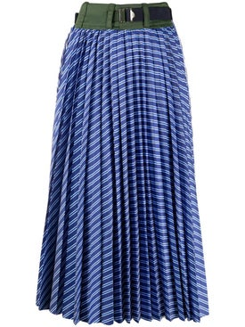 Sacai - Cotton Poplin Pleated Skirt - Women