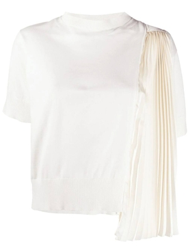 Sacai - Chiffon-paneled T-shirt - Women