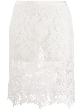 embroidery lace skirt with short