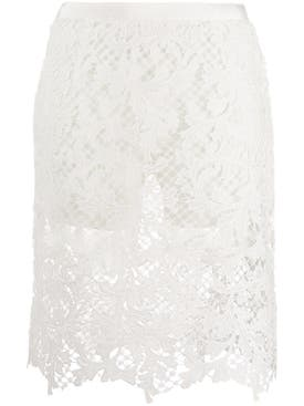 Sacai - Embroidery Lace Skirt With Short - Women
