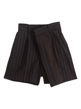 Sacai - Navy High-waisted Pinstripe Shorts - Women