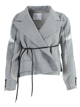 Sacai - Light Grey Suiting Jacket - Women