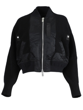 Black Blouson Jacket