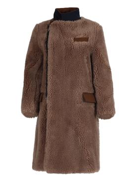 Brown Faux Shearling Coat