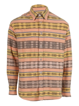 CAROLINA STRIPE WOVEN BUTTON-UP SHIRT