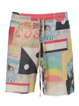 Multicolor Printed Boomslang shorts
