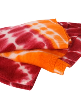 Maroon and orange Kaleidoscope blanket scarf