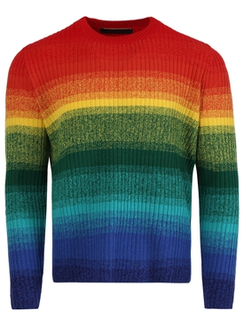 Morph multicolor stripe cashmere pullover sweater