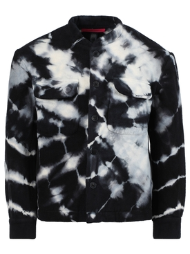 Black & white tie-dye jacket