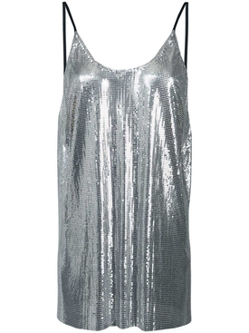 metallic sequin vest