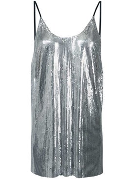 Paco Rabanne - Metallic Sequin Vest - Tanks